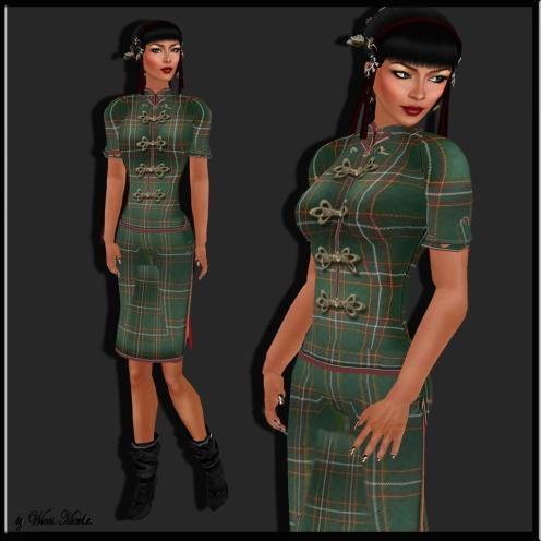 Lika Rubin China dress tartan