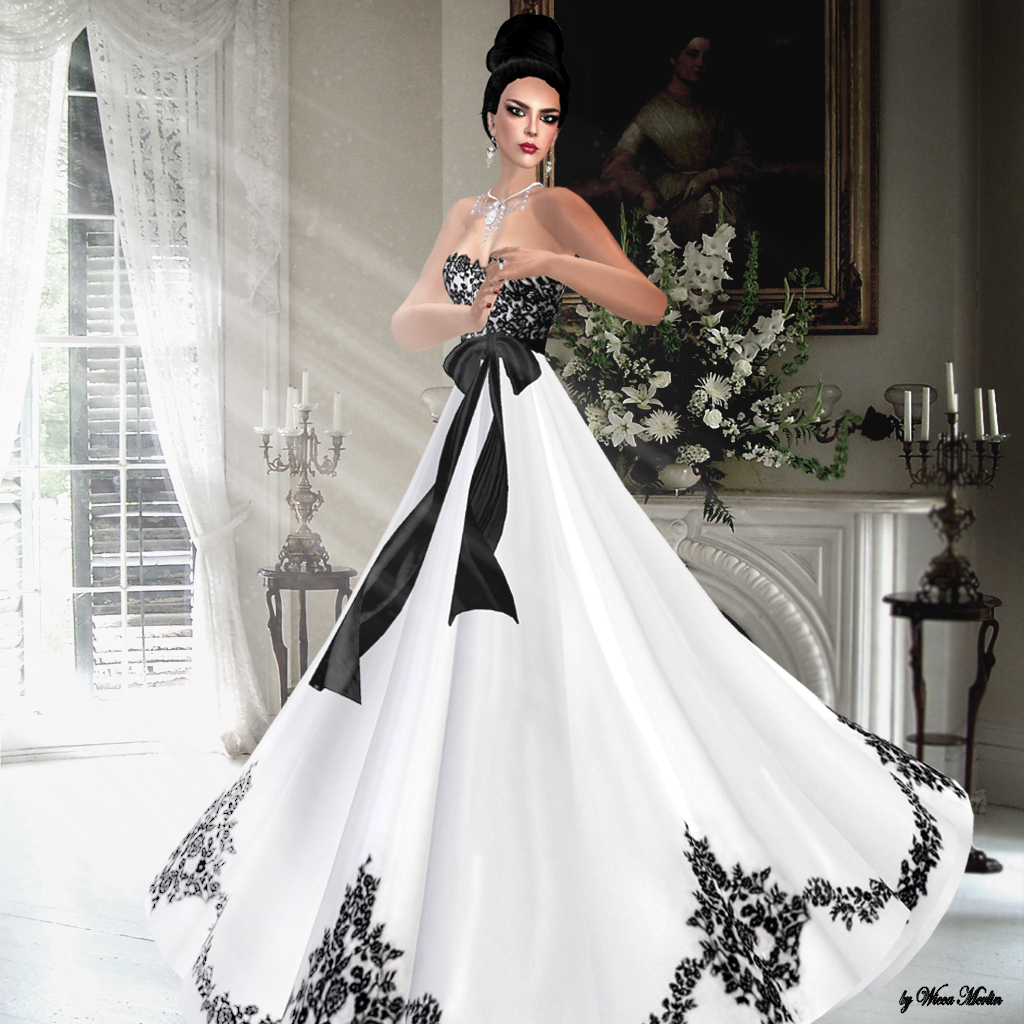 Wedding Dresses With Black Lace Trim Flower Girl Dresses