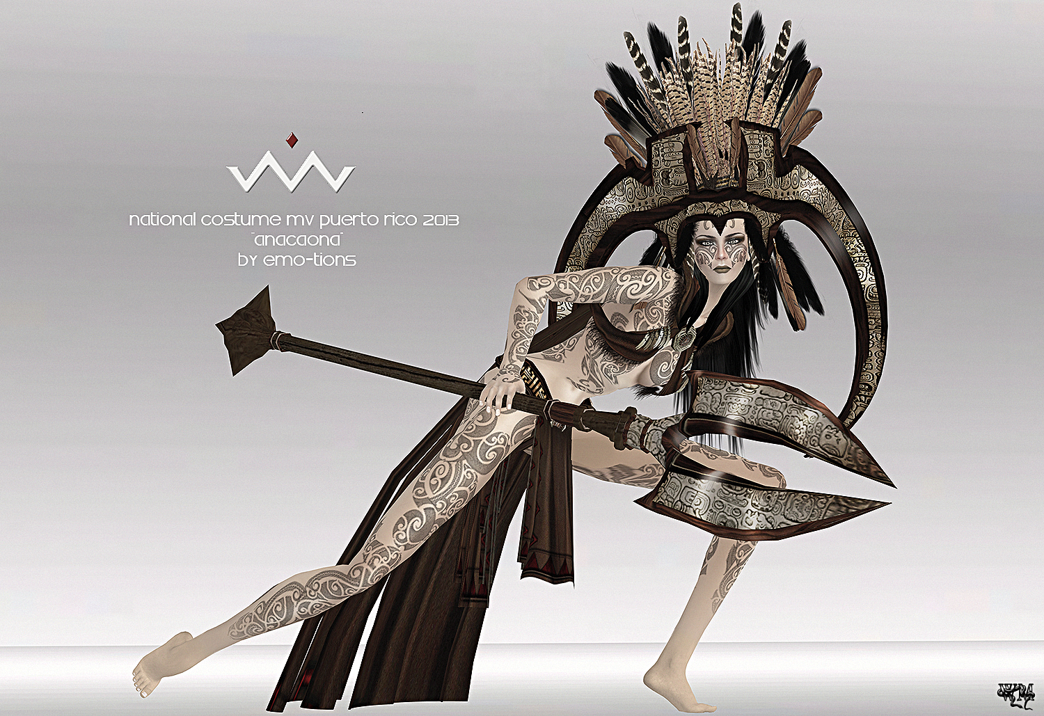 of MVW2013 – National Costume of Puerto Rico 2013 by EMO-tions